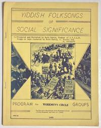 image of Yiddish folksongs of social significance