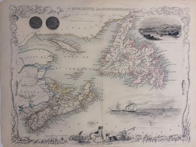 London: J. Rapkin. unbound. Map. Steel engraving with original hand coloring. Image measures 10.5