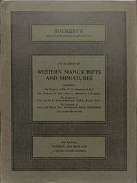 Sale 24 June 1980: Catalogue of Western MSS and miniatures.