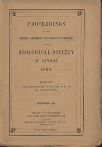 image of Proceedings of the Zoological Society of London 1920(3)