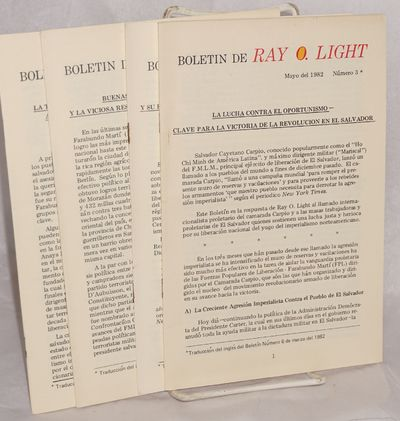 Bronx, NY: Ray O. Light, 1982. Four issues of the Spanish language edition of the pamphlet-format Ma...