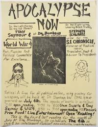 Apocalypse Now at Dr. Bombay's [handbill]