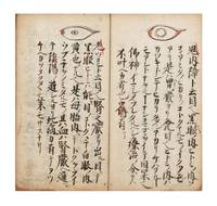 "Manuscript on paper, entitled in manuscript on label on upper cover ""Me [or] moku den ichi ryu"" [""Information on Ophthalmology passed down from the Iesato Ichi ryu school""]"