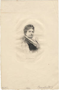 Half-length portrait engraving by A. Laluze of the noted French soprano, ca. 1870