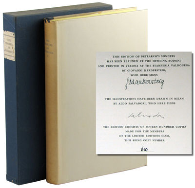 Verona: Limited Editions Club, 1965. Hardcover. Very Good. #610 of 1500cc signed by the printer Giov...