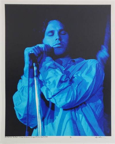 Chicago, 1969. Limited edition (1 of 6). Description: Jim Morrison, of The Doors, at the Chicago Aud...