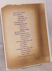 image of Silence and the Cave Shaded [handbill/broadside] [signed]