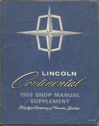 Lincoln Continental 1968 Shop Manual Supplement