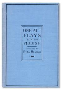 One-Act Plays from the Yiddish
