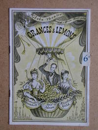 Oranges And Lemons. An Intimate Revue. Theatre Programme.