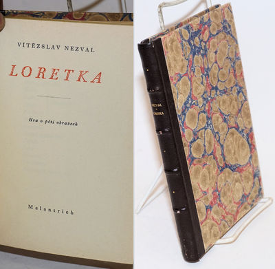Prague: Melantrich, 1941. Hardcover. 149p., text entirely in Czech, a paperbound original now expert...