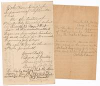 image of [Manuscript Documents]: Appointment of Mattie E. Dixon, a Colored School Teacher in Minter City, Mississippi, 1900 [with] Application for Payment Signed by Mattie E. Dixon