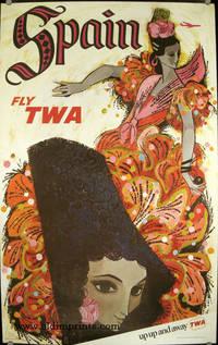 Spain. Fly TWA. up up and away TWA