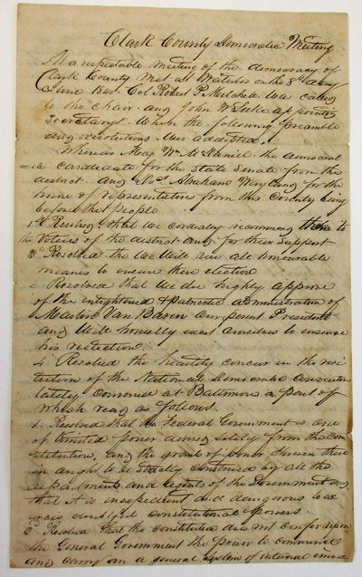 , 1840. Large folio, folded to 7-1/2