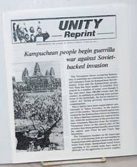 image of Kampuchean people begin guerrilla war against Soviet-backed invasion [with] Vietnamese invaders unable to crush Kampuchean resistance [Leaflet reprinting two articles from Unity, newspaper of the League of Revolutionary Struggle (M-L)]