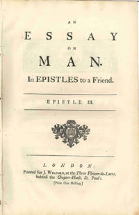essay on man alexander pope epistle 2 Essay on man by alexander pope epistle i: of the nature and state of man, with respect to the universe argument of man in the abstractan essay on man.