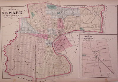 New York: Beers, Comstock & Cline, 1872. unbound. very good(+). Map. Lithograph with original hand c...