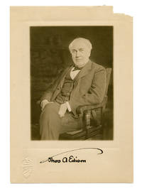 image of Original 4.75 x 7 inch Gravure Photograph of a Seated Thomas Edison