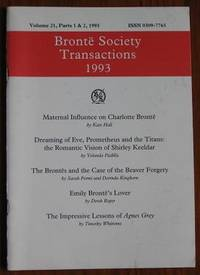 image of Brontë Society Transactions 1993 Volume 21, Parts 1 & 2