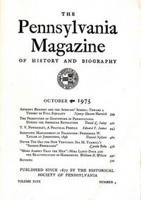The Pennsylvania Magazine of History and Biography: Octoberl 1975 by  Nicholas B. (Editor) WAInwright - Paperback - 1975 - from Shamrock Books (SKU: 120403)