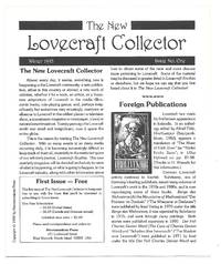 The New Lovecraft Collector: Issue 1: Winter 1993