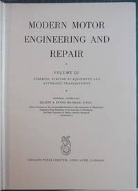 Modern Motor Engineering and Repair Volume III