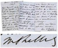 AUTOGRAPH LETTER SIGNED (ALS) by the Author of FRANKENSTEIN