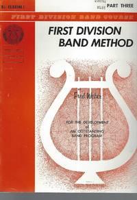 First Division Band Method B Flat Clarinet Part Three 3