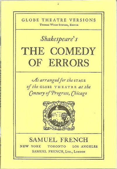 an analysis of the comedy of errors william shakespeares first comedy These books can be used for elementary, middle school, and see more a glossary of linguistics, literary and grammatical terms helpful for writers, speakers, teachers an analysis of literary elements in the comedy of errors by william shakespeare and communicators of all sorts, in addition to students and 13-4-2018 complete.