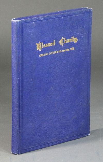 Chicago: Hazlitt & Reed, 1872. First edition, 8vo, pp. 160; original blue pebble grained cloth, gilt...