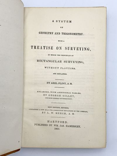 Hartford: WM. JAS. Hamersley, 1851. Fine copy with minor wear to extremities. 8vo. 168 pages. Origin...
