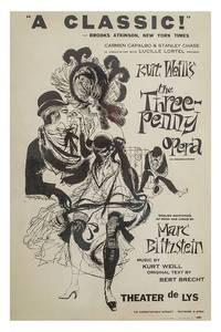 THREEPENNY OPERA, THE [DIE DREIGROSCHEN OPER] (1955) Theatre window card