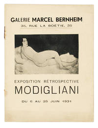 [From the upper cover]: Exposition Rétrospective Modigliani, du 6 au 25 Juin 1931