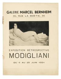 [From the upper cover]: Exposition Rétrospective Modigliani, du 6 au 25 Juin 1931