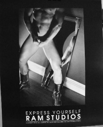 San Francisco: Ram Studios, 1990. POSTER. Single sheet poster 16x20 inches, b&w photograph of a nude...