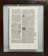 Dante's Inferno Double Sided Rare Illustrated Original Leaf 1507 Framed Page