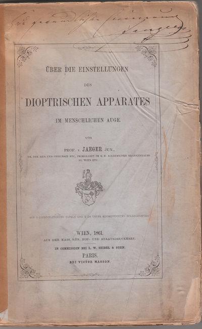 Vienna: k. k. Hof- und Staatsdruckerei, 1861. First Edition.. orig. prtd. wrappers.. A good copy; oc...