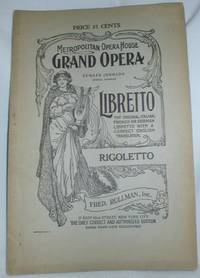 image of Rigoletto; An Opera in Four Acts
