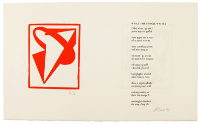 , 1986. First Thus. Broadside. Fine. Jackson, Vanessa. Broadside, printed recto and verso, Approxima...
