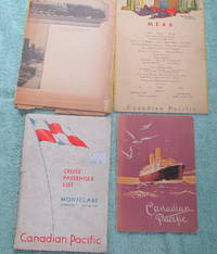 Canadian Pacific SS Montclare Liverpool, July 16, 1932 Cruise Passenger List, plus Extras