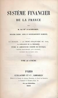 Système Financier De La France Tome Quatrieme