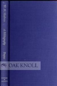 W.H. HUDSON, A BIBLIOGRAPHY