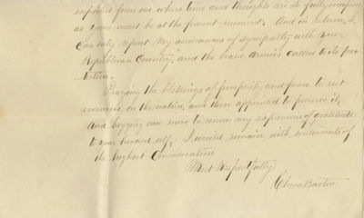 31/07/1870. Clara Barton She carried these documents with her to Europe to prove her engagementIn 18...