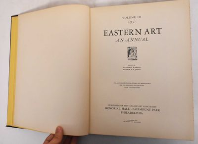 Philadelphia: Memorial Hall for the College Art Foundation, 1931. Hardcover. VG some damage and peel...