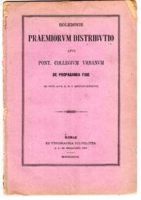 Solemnis praemiorum distributio apud Collegium Urbanam de Propaganda Fide III. Non Avg A R. S. MDCCCLXXXVIII