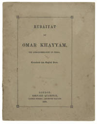 Rubaiyat of Omar Khayyam, the astronomer- poet of Persia translated into English verse by  EDWARD FITZGERALD - First Edition - 1859 - from 19th Century Rare Book and Photograph Shop and Biblio.com
