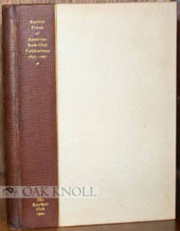 AUCTION PRICES OF AMERICAN BOOK-CLUB PUBLICATIONS 1857-1901
