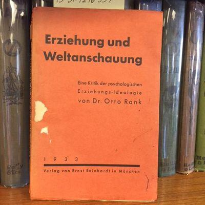 München : Ernst Reinhardt, 1933. Softcover. Octavo, 183 pages; Fair; bound in original orange wrapp...