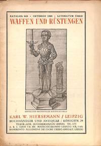 Catalogue 445/1916: Waffen und Rüstungen.