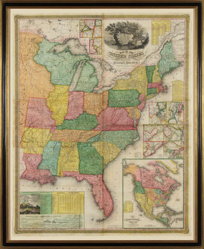 Philadelphia, 1831. No binding. Fine. Map of the United States. Entered according to Act of Congress...